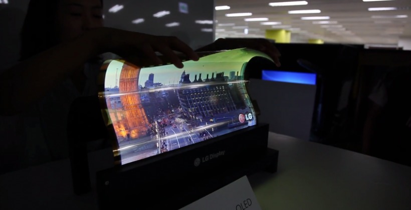 LG's beautiful 18-inch roll-up OLED display