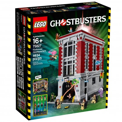 Lego Ghostbusters firehouse front box