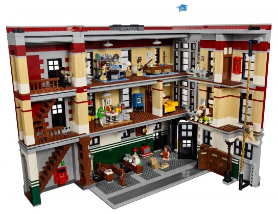 Lego Ghostbusters firehouse opened
