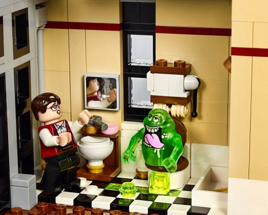 Lego Ghostbusters firehouse toilet