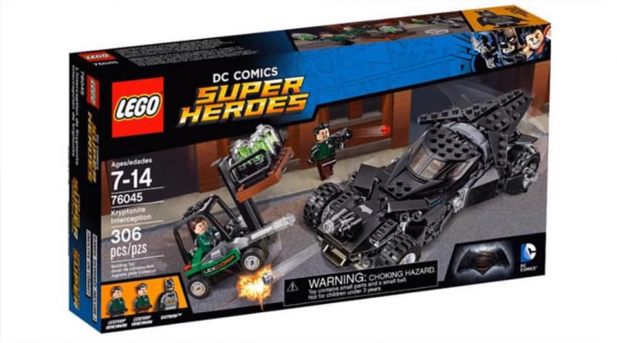 Batman Vs Superman: Kryptonite interceptor Lego box