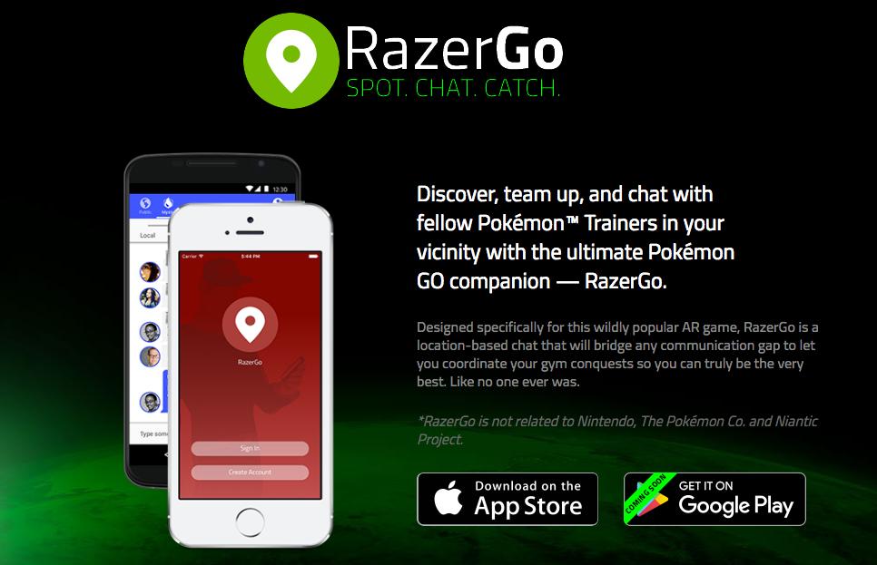 Coordinate your Pokemon GO hunts with Razer's new app