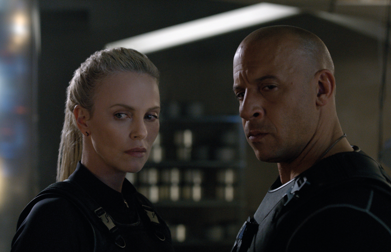 Fast and Furious 8 Charlize Theron and Vin Diesel