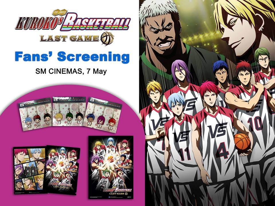 Kuroko no Basket fan screening poster philippines
