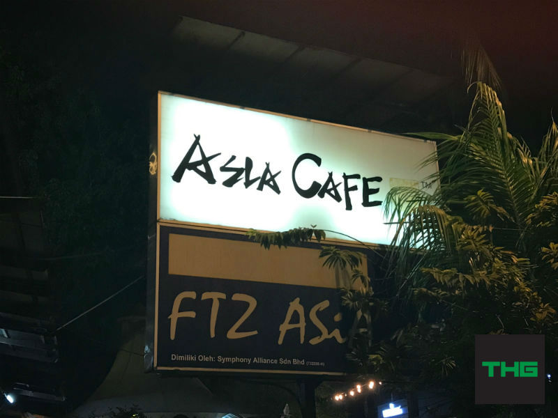 Asia Cafe signboard