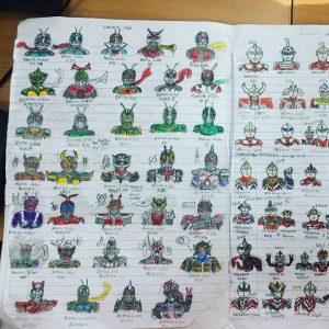 Kamen Rider Malaysian Autistic Student artwork