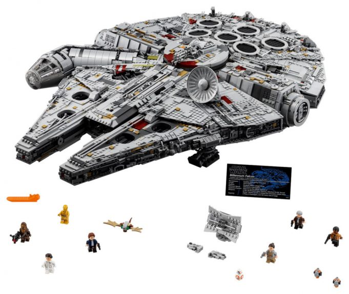 Lego UCS millennium falcon set with minifig