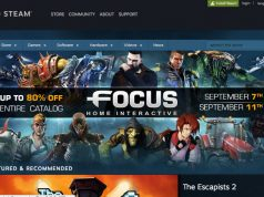 Steam main page