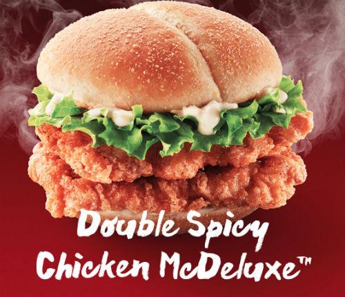 Double Spicy Chicken McDeluxe