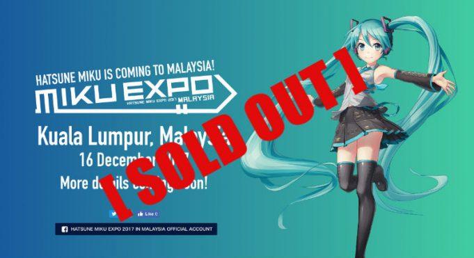Hatsune Miku Malaysia sold out