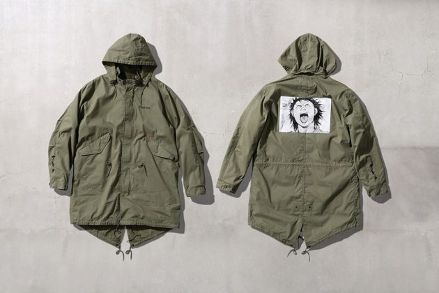 Supreme x Akira Fishtail parka greenish beige