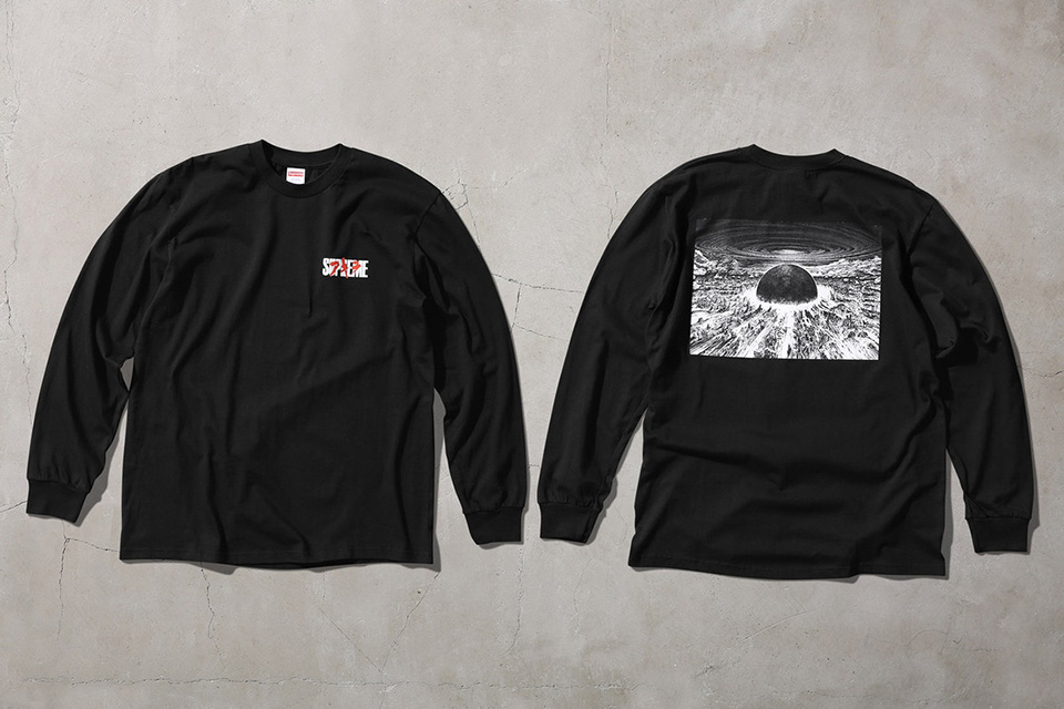 Take a first look at the upcoming supreme x akira for Akira long sleeve shirt