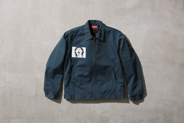 Supreme x Akira Work Jacket Green Front