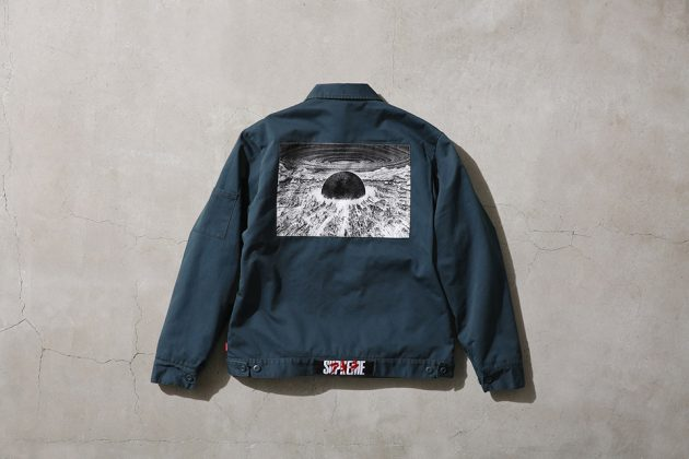 Supreme x Akira Work Jacket Green back