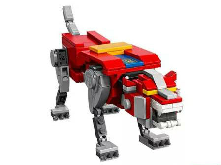 Lego Voltron red lion